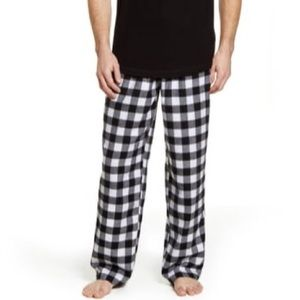 Rachel Parcell Black & White Plaid Flannel Pajama